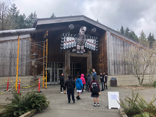 Entering the longhouse with the eagle totem