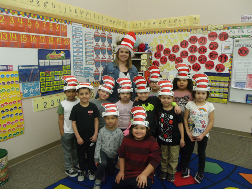 class in cat in the hat hats