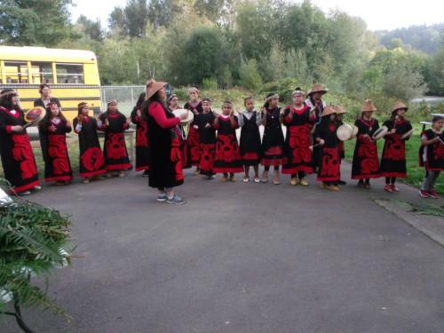 drumming at salmon ceremony