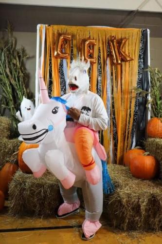 unicorn costume at harvest festival