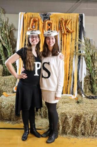 salt and pepper costumes at harvest festival.