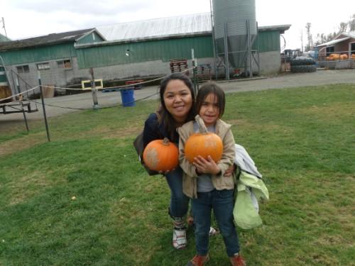 third grader found a pumpkin!