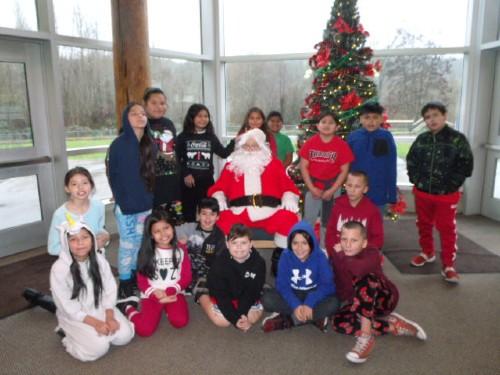 Santa visits Wa He Lut students